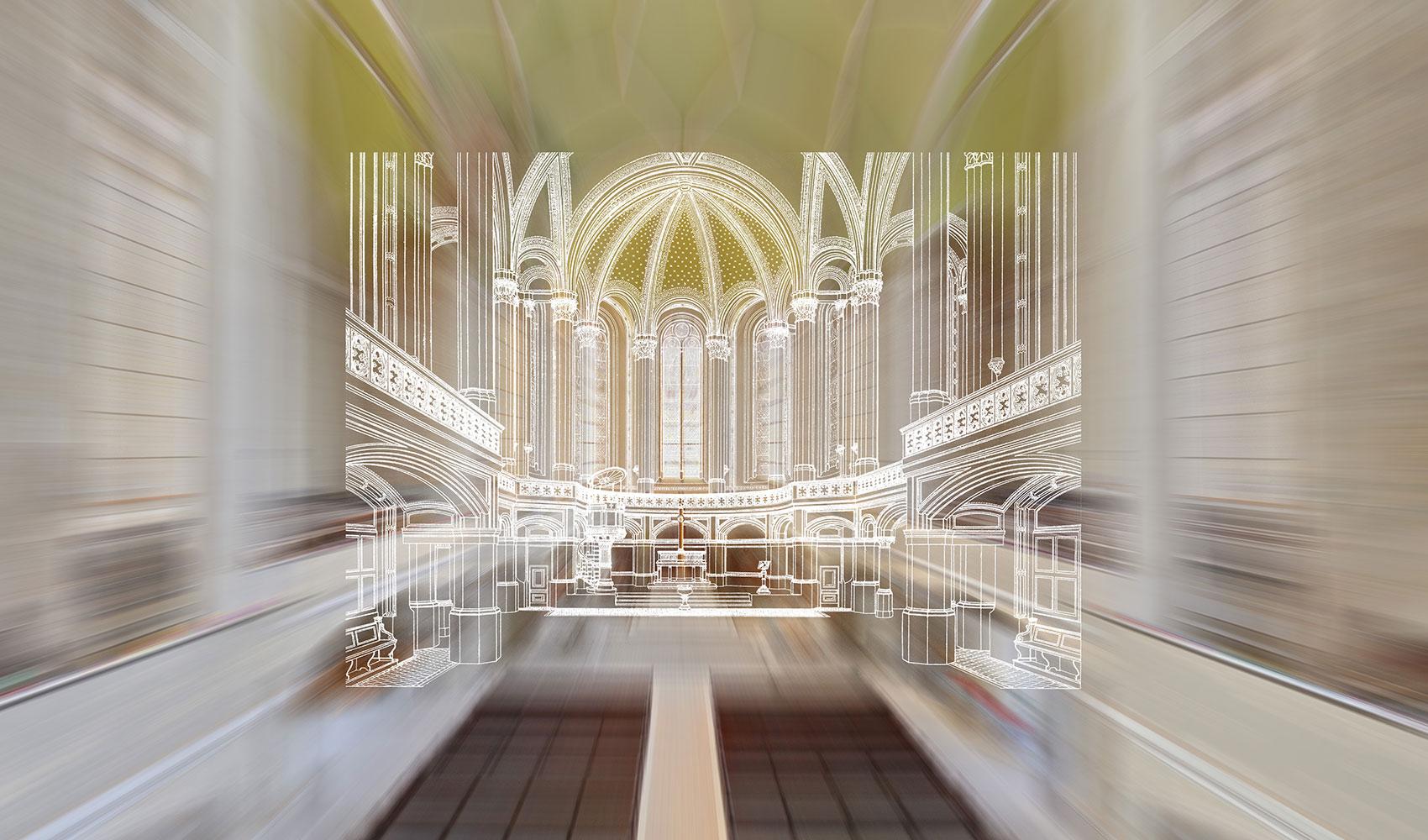 KlangRaumZion Visualisierung Restaurierung