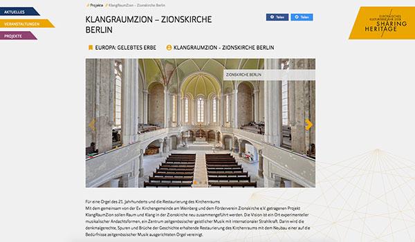 KlangRaumZion wird offizieller Beitrag zum Europäischen Kulturerbejahr 2018
